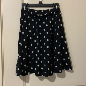 Target black and white polka dot skirt